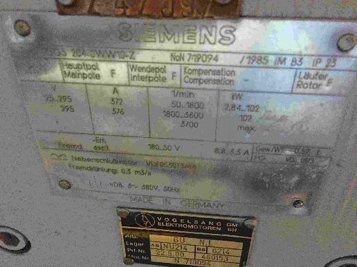 Siemens 102 kW Direct current