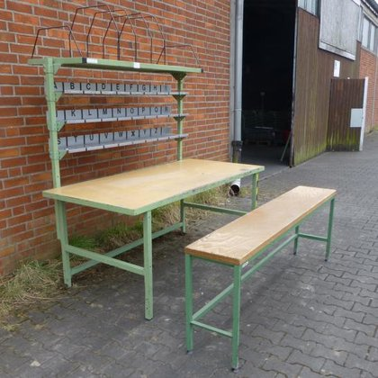 Work bench with register and