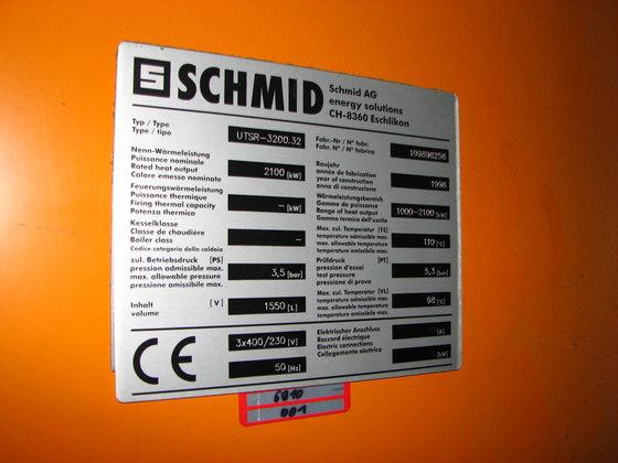 1998 SCHMID HOLZHEIZANLAGE 2100 kW