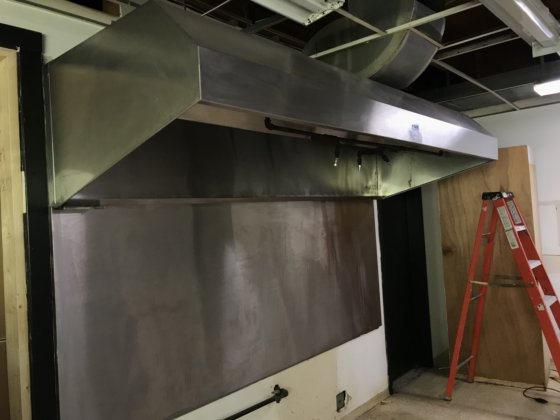 Grease Vent Hood Back Wall Roof Fan Make Up Air Sytem Fire System Pack In British Columbia Canada
