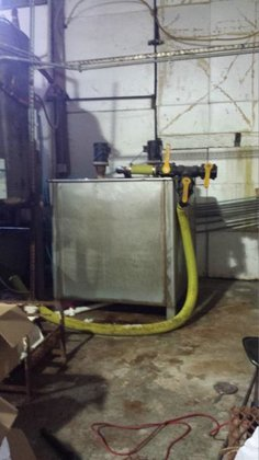 500-gallon Stainless Steel Square Brine