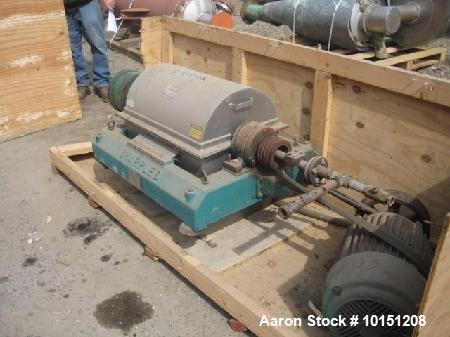Used- Sharples P-2000 Super-D-Canter Centrifuge.