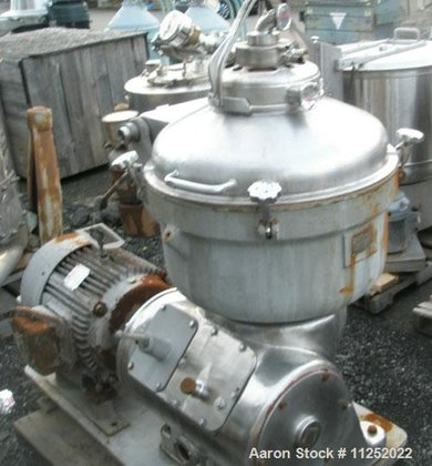 Used-Alfa Laval SRG-214-14HH Solid Bowl
