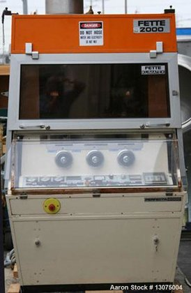 Used-Fette D-Tooled Tablet Press, Model