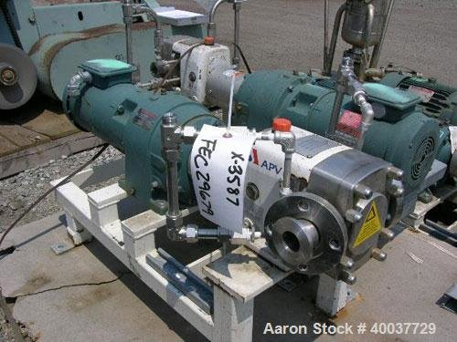 Used- APV Rotary Lobe Pump,
