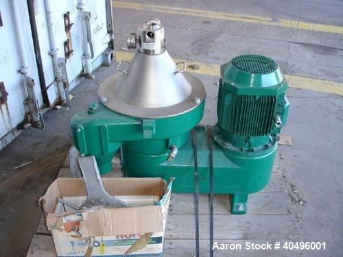 Used-Westfalia OSD-18-01-037/18 Desludger Disc Centrifuge.