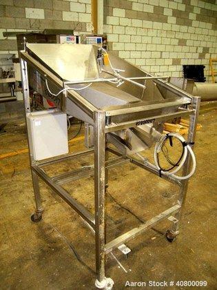 Used- Vibratory Feeder, stainless steel.