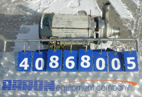 Used-AmpcoCentrifugalPump,ModelZC2 2 1/2X2,316 stainless steel.2