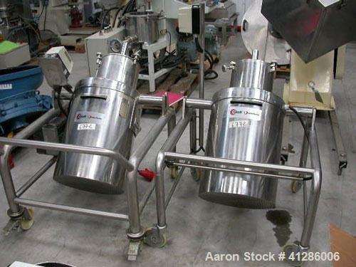 Used-Glatt Granulator, stainless steel, for