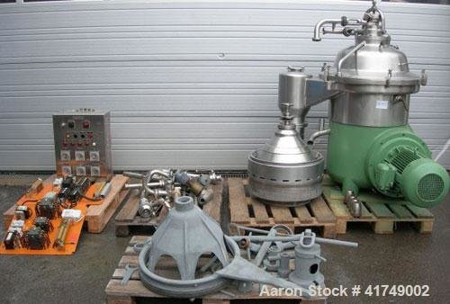 Used-Westfalia SA-60-47-076 Desludger Disc Centrifuge,