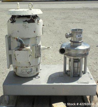 Used- Tri-Clover Tri-Blender, model F3218MD-BBVS,