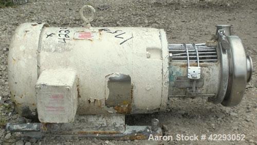 Used- Tri-CloverCentrifugalPump, Model C216MD21T-S,316 Stainless