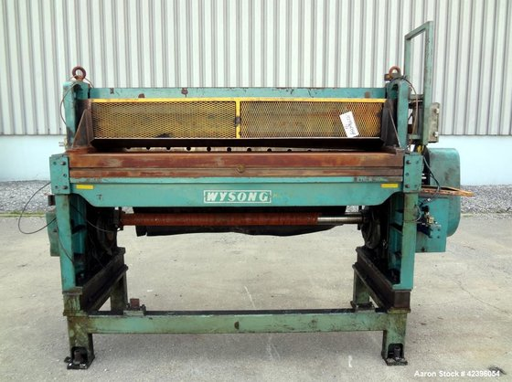 Used- Wysong Power Squaring Shear,