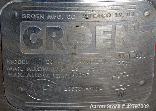 Used- Groen Steam Heated Kettle,20