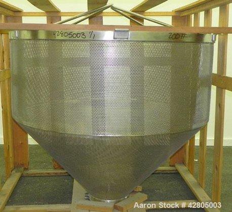 Used- Lee/Groen Perforated Basket Insert,