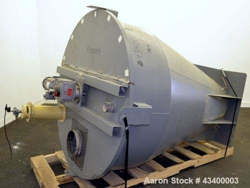 Used- Agitated Hopper/Feeder, Carbon Steel.
