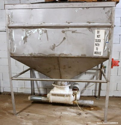 Used-Stainless Steel Hopper. Includes a