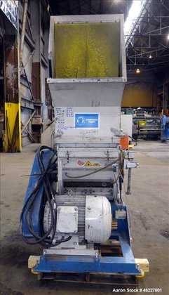 Used- Tria Granulator, Carbon Steel.
