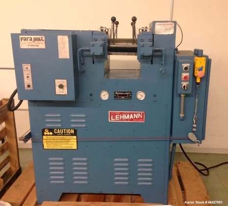 Used- Lehmann/Thropp Two Roll Mill,