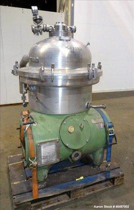 Used- Westfalia SA-45-03-076 Disc Centrifuge.
