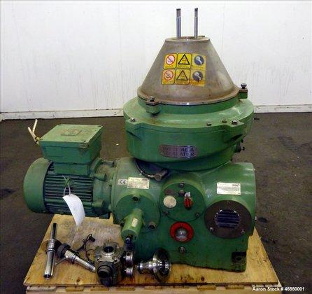 Used- Westfalia WSC-25-01-506 Disc Centrifuge.