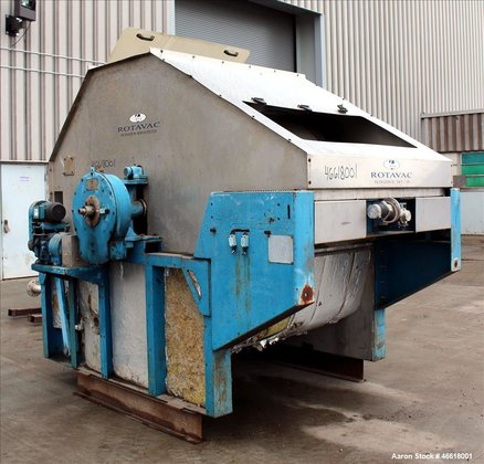 Used- Filtration Services Limited RotoVac