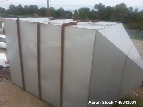 Used- Stainless Steel Hopper/Bin. 12'