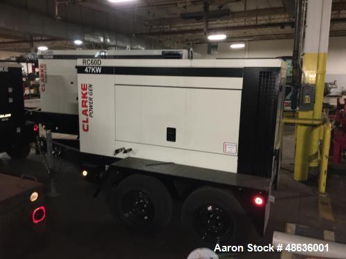 Unused- Clarke Mobile Prime Generator, Model RC60D-T3