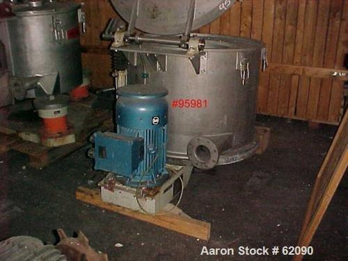 USED: Ellerwerk vertical basket centrifuge,