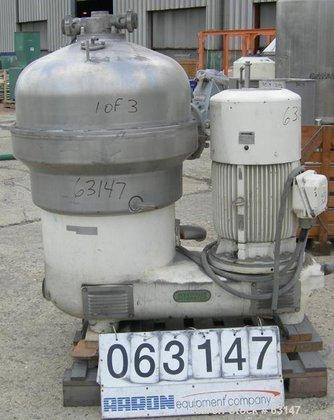 USED: Westfalia SB-60-36-177 Desludger Disc