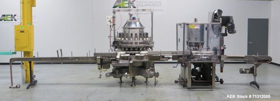 Used- Consolidated Liquid Filler/Capper. Capable