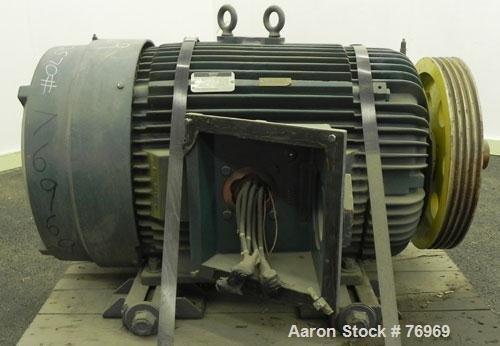 Used- Reliance TEFC Motor. 75