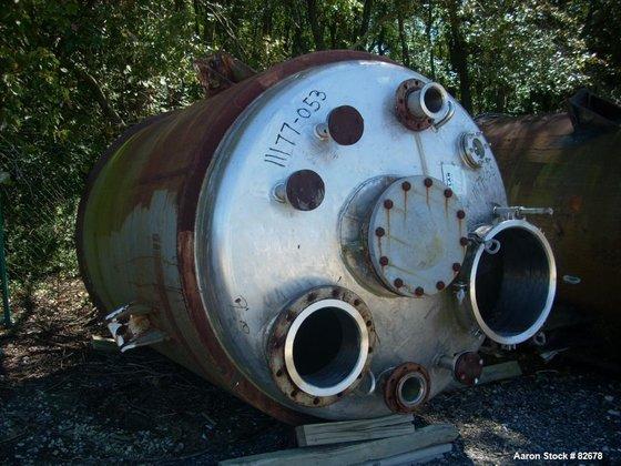 Used-Tolan reactor, 1350 gallon, 304