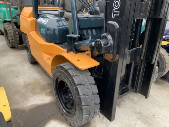 Reasonable Price 5 Ton Toyota 7fd50 Forklift With Clamp For Sale In Shanghai China