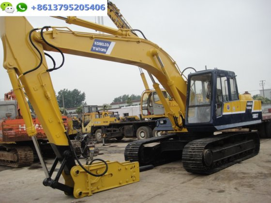 0 7m³ Japan excavator Kobelco SK07 with jack hammer for sale in