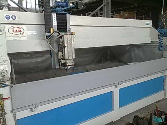 EAM - water jet cutting machine in Carrara, Italy