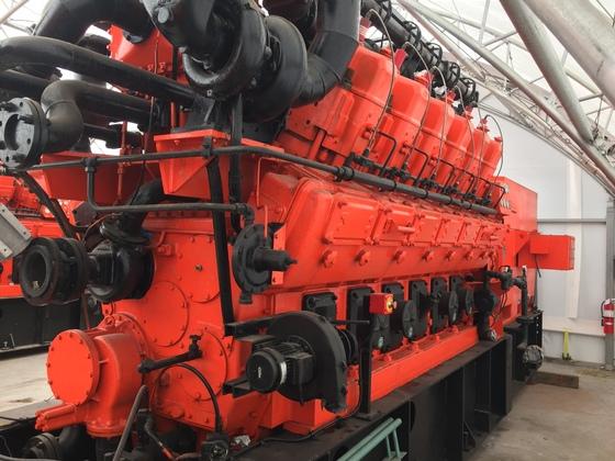 Used Waukesha 12V-AT25GL Generator Set