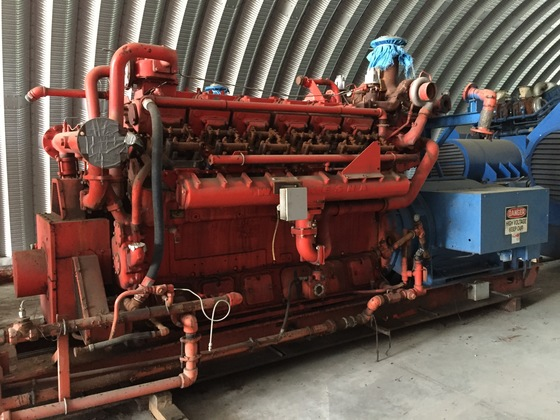 Used Waukesha L7042GLD Generator Set