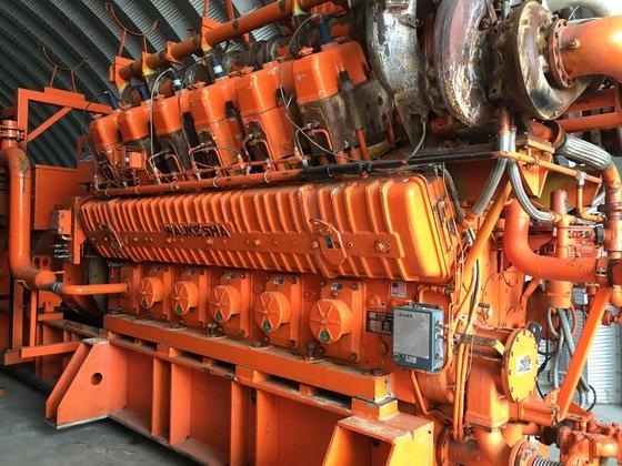 Used Waukesha 12V-AT27GL Generator Set