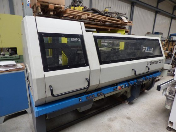 WEINIG moulder Unimat 23E to 7 PO-wide-width device slotted tab in Nevers,  France