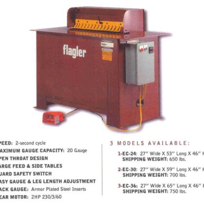 Flagler EC-36 Electric Cleatfolder Machine
