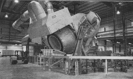 22,000 lb Tilting Rotary Furnace