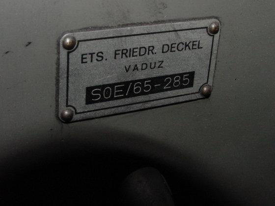 1965 Deckel SOE TOOL &