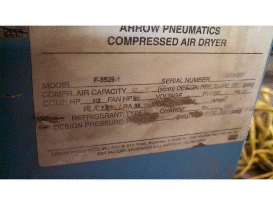 Arrow Pneumatics Compressed Air Dryer,