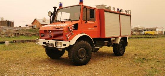 1985 Merceds Benz Unimog U1300 fire truck in Neuenburg am ...