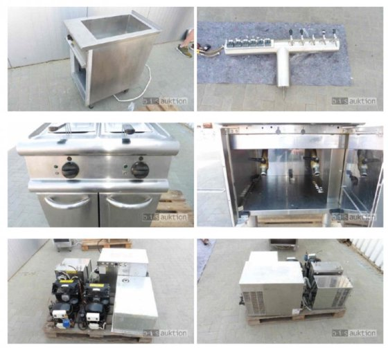 Catering kitchen equipment diff. brands and construction years in ...