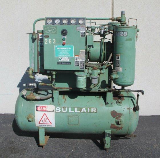 25HP SULLAIR Rotary Screw Air Compressor Model 10-25 ACAC Made in USA in  Oxnard, CA, USA