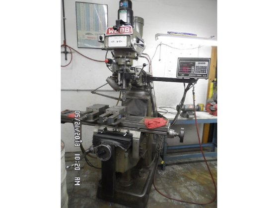 1991 Webb Vertical Knee Mill,