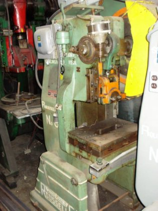ROUSSELLE 25 TON AIR CLUTCH O B I  PUNCH PRESS #6