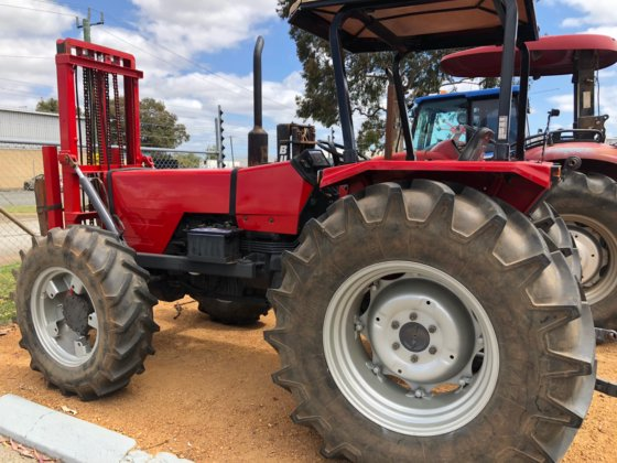 MASSEY FERGUSON 373 4WD TRACTOR WITH FRONT MOUNTED FORKLIFT in Kewdale,  Australia